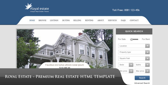 Royal Estate - Premium HTML Template - Corporate Site Templates