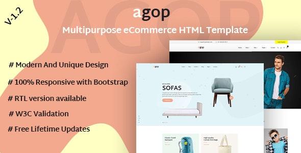 Agop - Multipurpose eCommerce HTML Template - Retail Site Templates