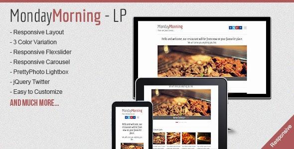 MondayMorning - Food Responsive Landing Page - Food Retail