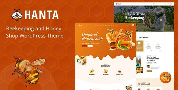 Hanta - Beekeeping and Honey Shop WordPress Theme