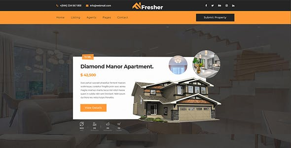 Fresher - Real Estate Template