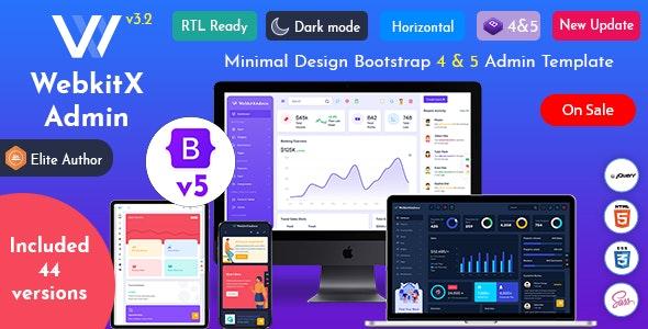 WebkitX Admin - Bootstrap 5 Admin Dashboard Template & User Interface - Admin Templates Site Templates