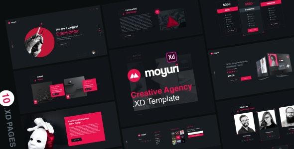 Moyuri   Freelancer and Creative Agency Adobe XD Template - Creative Adobe XD
