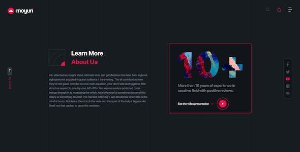 Moyuri | Freelancer and Creative Agency Adobe XD Template