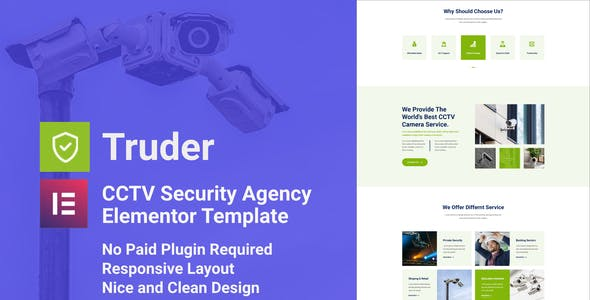 Truder - CCTV Security Service Elementor Template Kit