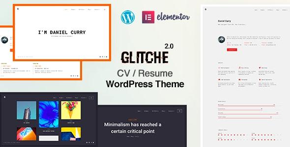 Glitche - Resume WordPress Theme - Portfolio Creative