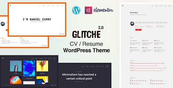 Glitche - Resume WordPress Theme