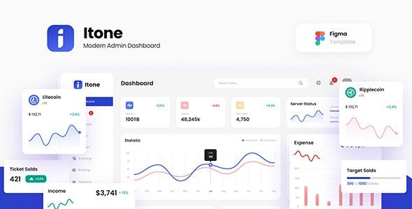 Itone - Modern Admin Dashboard Template Figma - Miscellaneous Figma