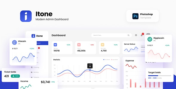 Itone - Modern and Dynamic Admin Dashboard Template PSD - Miscellaneous Photoshop