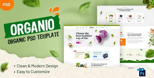Organio - Organic PSD Template - Food Retail