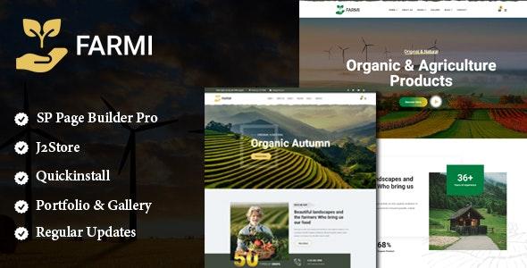 Farmi - Organic Farm Agriculture Joomla Template With Page Builder - Business Corporate