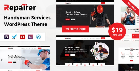 Repairer - Handyman Services WordPress Theme - Business Corporate