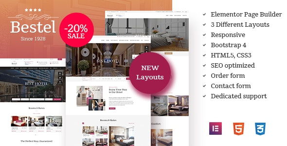 Bestel Hotel WordPress Theme - Travel Retail