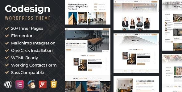 CoDesign - Architect & Interior WordPress Theme - Creative WordPress