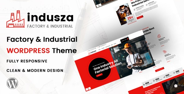 Indusza - Industrial & Factory WordPress - Business Corporate