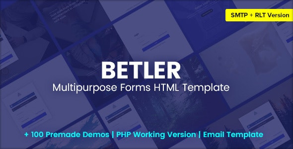 Betler v1.0 – Multipurpose Forms HTML Template