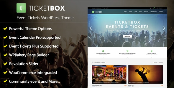 TicketBox – Event Tickets WordPress Theme - Events Entertainment