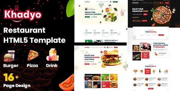 Khadyo - Restaurant HTML5 Template - Restaurants & Cafes Entertainment