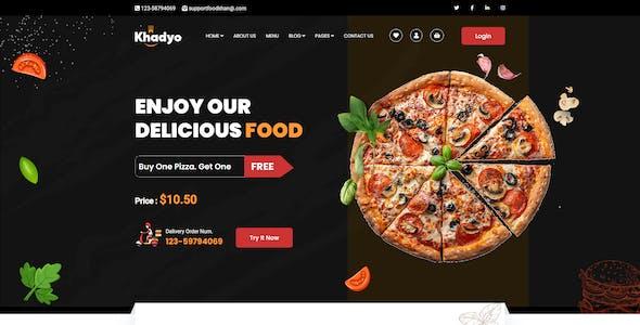 Khadyo - Restaurant HTML5 Template