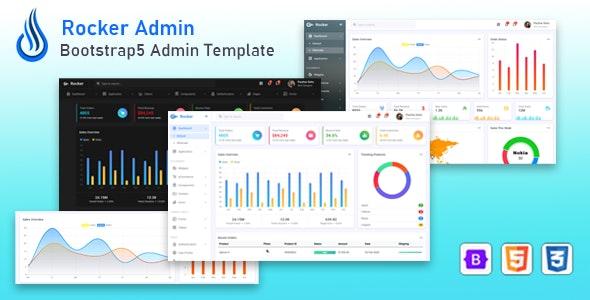 Rocker - Bootstrap 5 Admin Dashboard Template - Admin Templates Site Templates