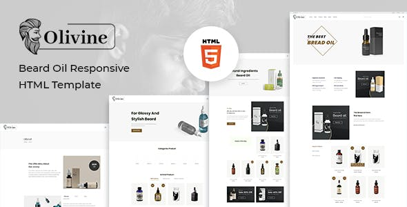 Olivine - Beard Oil HTML Template