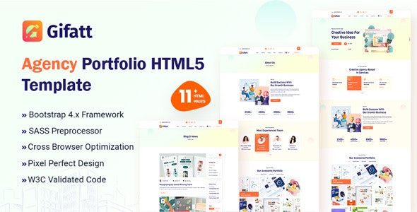 Gifatt - Agency Portfolio HTML5 Template - Portfolio Creative
