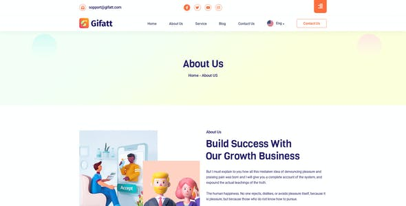 Gifatt - Agency Portfolio HTML5 Template