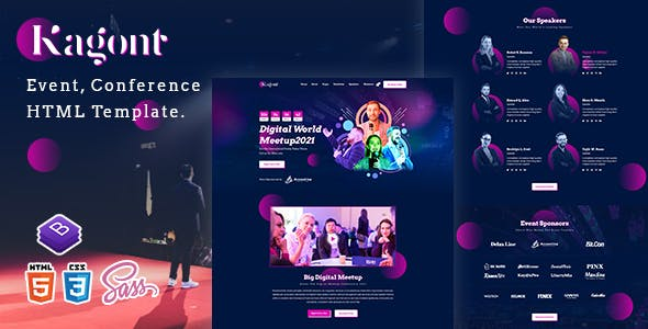 Kagont - Event, Conference And Meetup HTML Template