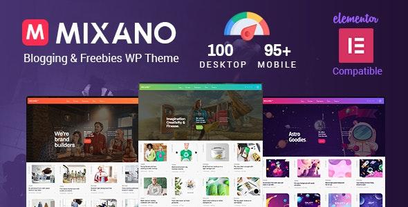Mixano - Minimal WordPress Theme - Blog / Magazine WordPress