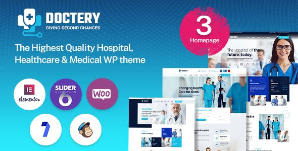 Doctery - Hospital and Healthcare WordPress Theme