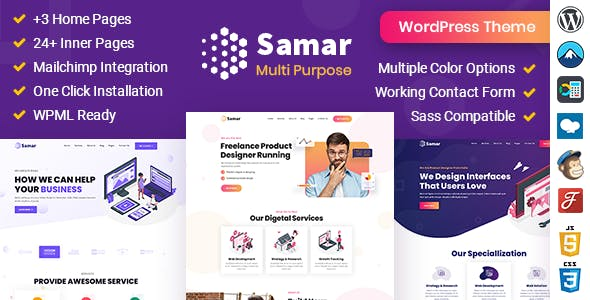 Samar | Creative Agency WordPress Theme