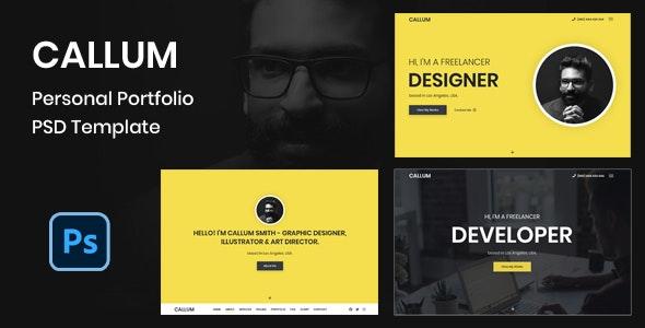 Callum - Personal Portfolio PSD Template - Portfolio Creative