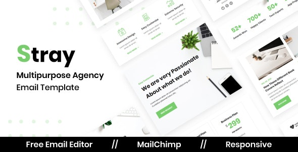 Stray Agency - Multipurpose Responsive Email Template - Newsletters Email Templates