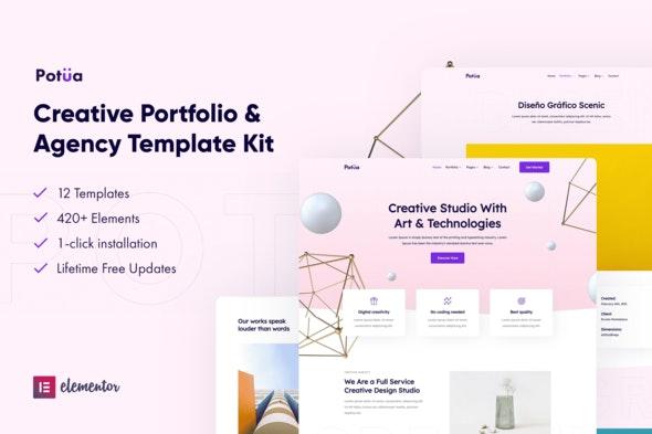 Potua - Creative Portfolio & Agency Elementor Template Kit - Creative & Design Elementor