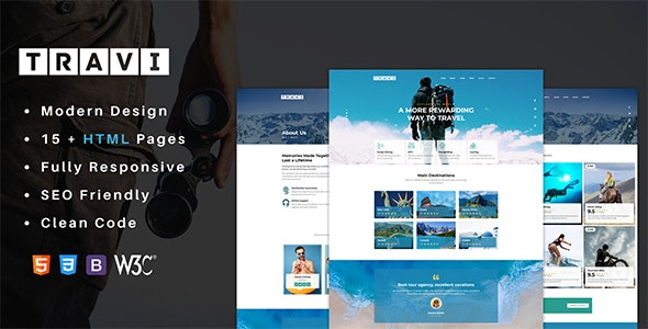 Travi - Tour Guide And Excursions HTML Template - Travel Retail