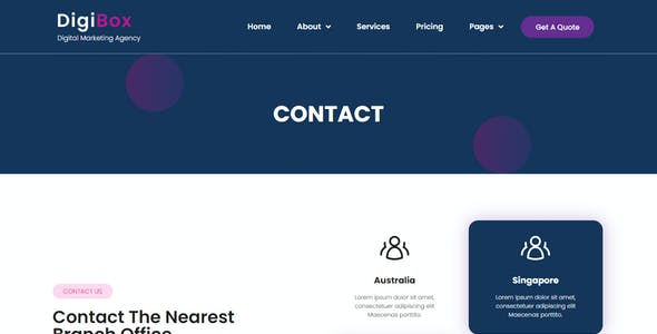DigiBox - Digital Marketing Agency Elementor Template Kit