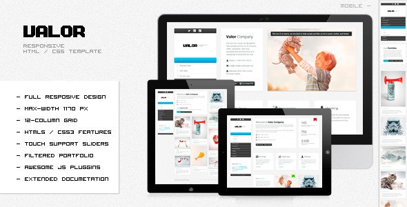 VALOR - Responsive HTML Template - Creative Site Templates