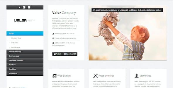 VALOR - Responsive HTML Template