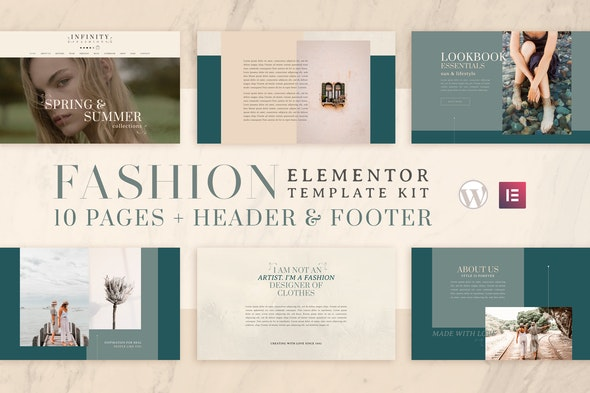Infinity Fashion - WooCommerce Elementor Template Kit - Fashion & Beauty Elementor