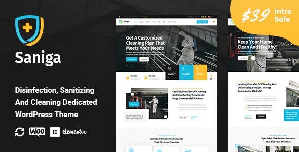 Saniga - Disinfection & Sanitizing WordPress Theme - Business Corporate