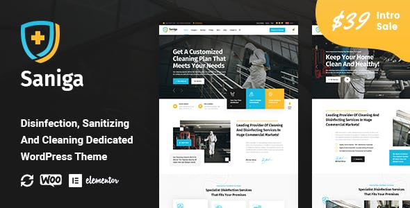 Saniga - Disinfection & Sanitizing WordPress Theme