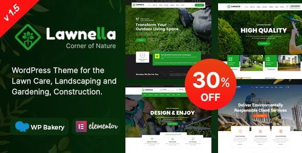 Lawnella - Gardening & Landscaping WordPress Theme