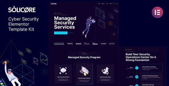 Solicore — Cyber Security Elementor Template Kit