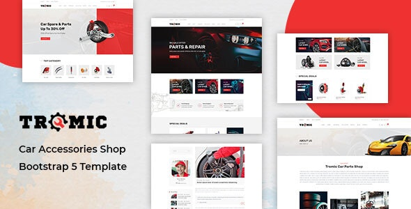 Tromic - Car Accessories Shop Bootstrap 5 Template - Shopping Retail