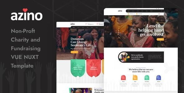Azino - Nonprofit Charity Vue Nuxt Template - Charity Nonprofit