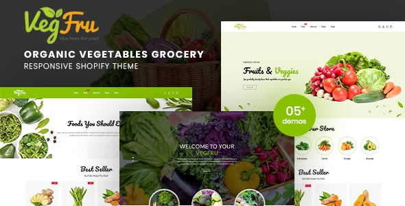 Vegfru - Organic Vegetables eCommerce Shopify Theme - Shopify eCommerce