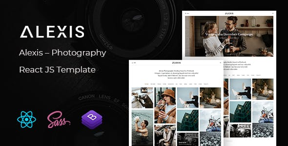 Alexis – Photography React JS Template