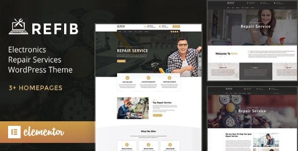 Refib - Digital Repair Service WordPress Theme - Technology WordPress