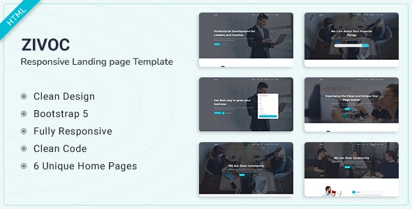 Zivoc - Bootstrap 5 Landing Page Template - Landing Pages Marketing