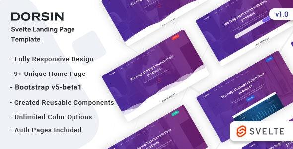 Dorsin - Svelte Landing Page Templae - Corporate Site Templates